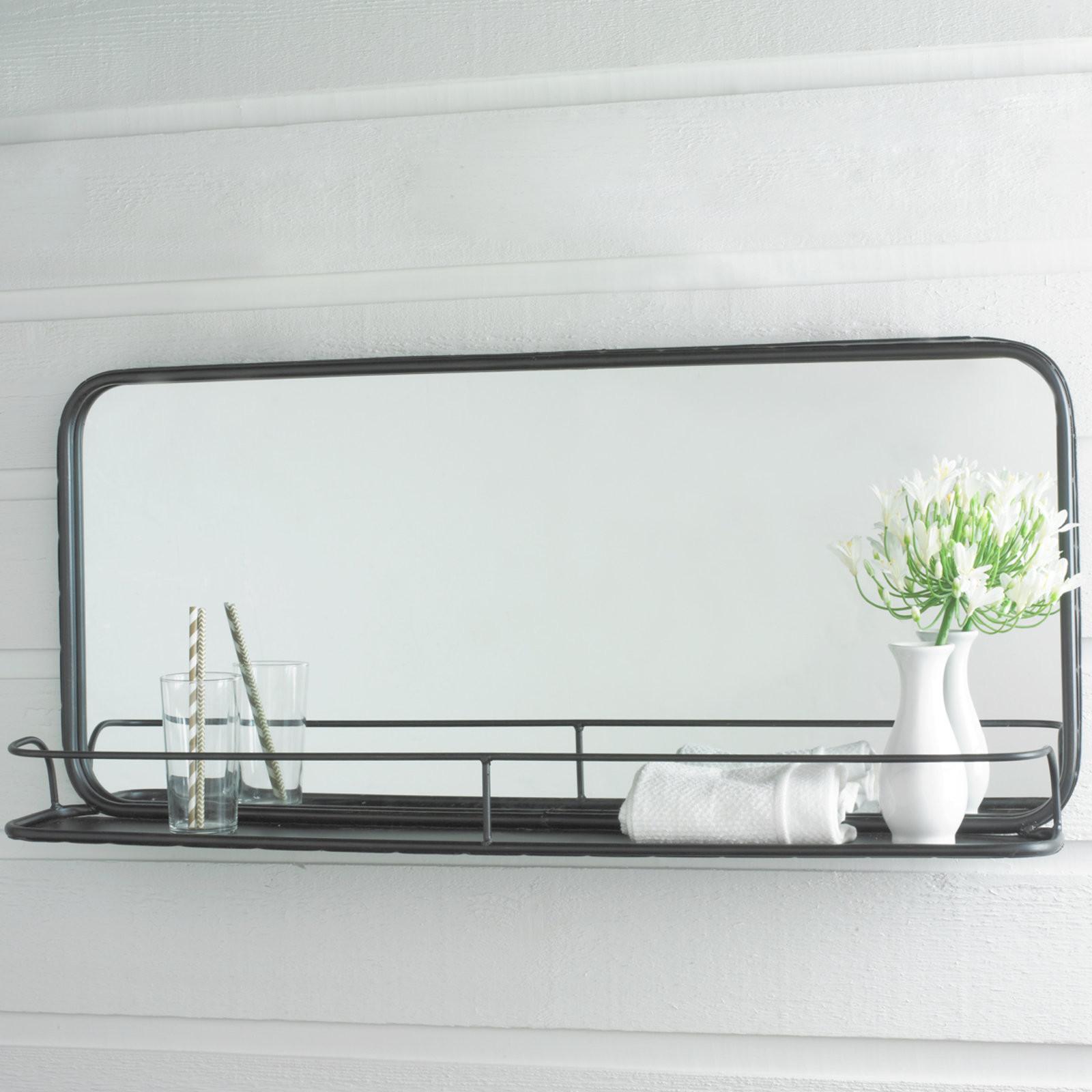 Metal Framed Mirrors Bathroom  Metal Mirror with Shelf Shades of Light