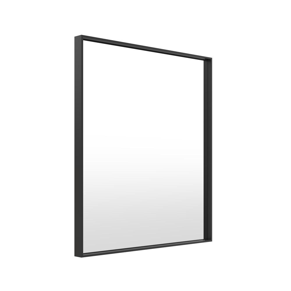 Metal Framed Mirrors Bathroom  Milan Metal Black Frame Bathroom Mirror 75cm x 90cm