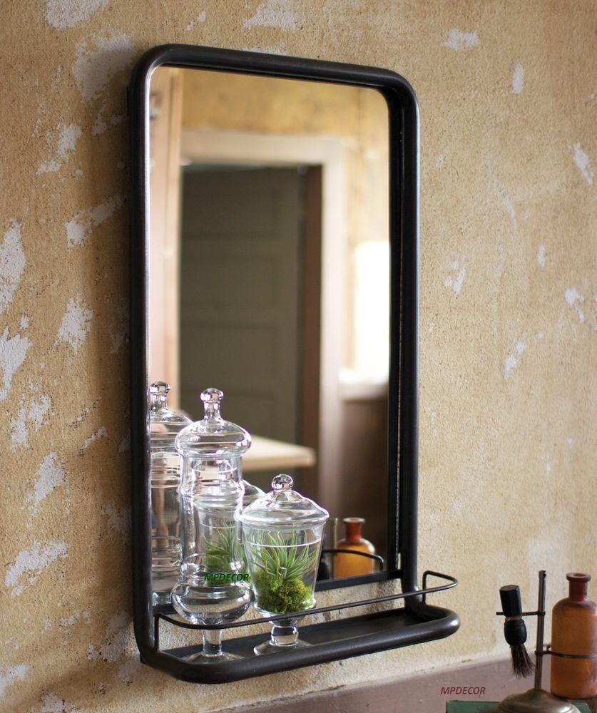 Metal Framed Mirrors Bathroom  Vintage Loft Industrial Warehouse Style Metal Frame Wall