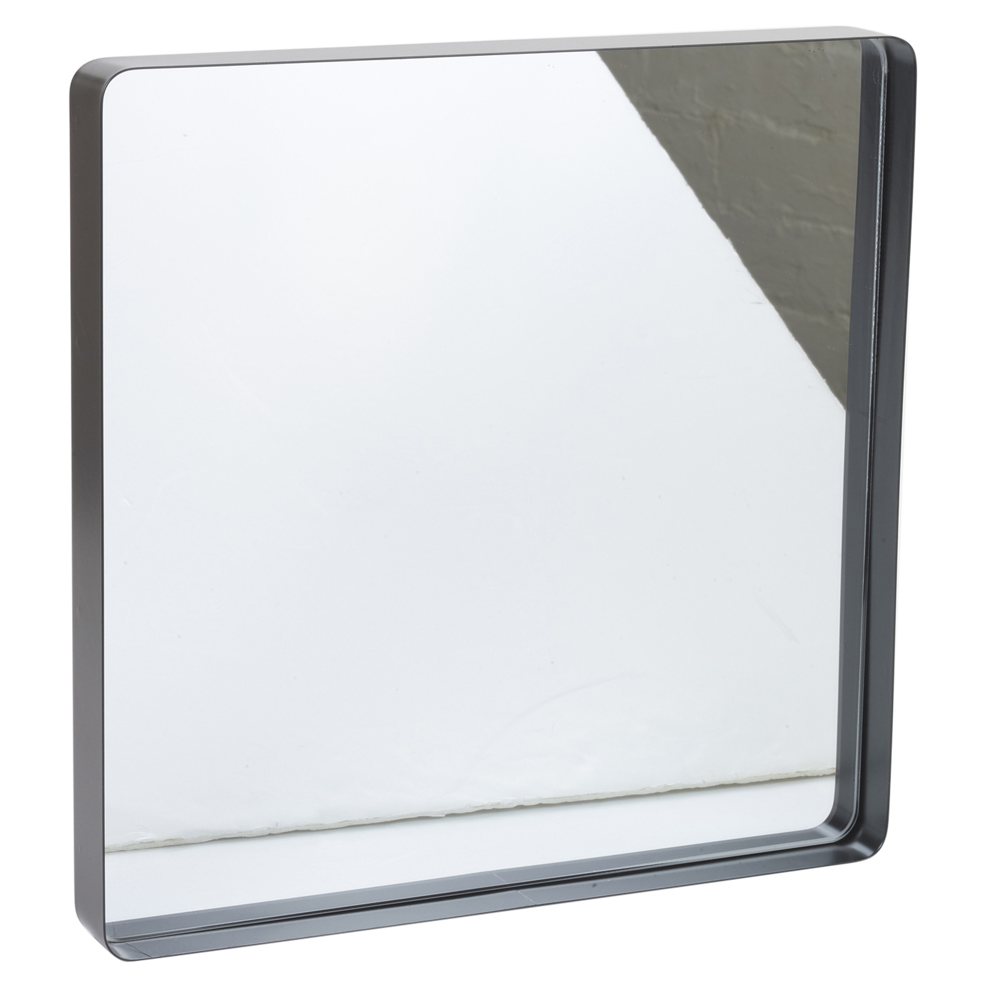 Metal Framed Mirrors Bathroom  Square Inset Design Metal Frame Bathroom Mirror Modern