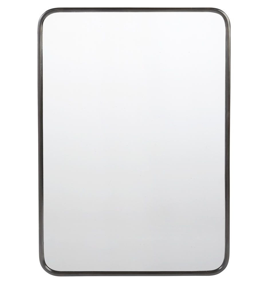 Metal Framed Mirrors Bathroom  30in x 40in Metal Framed Mirror Rounded Rectangle Oil