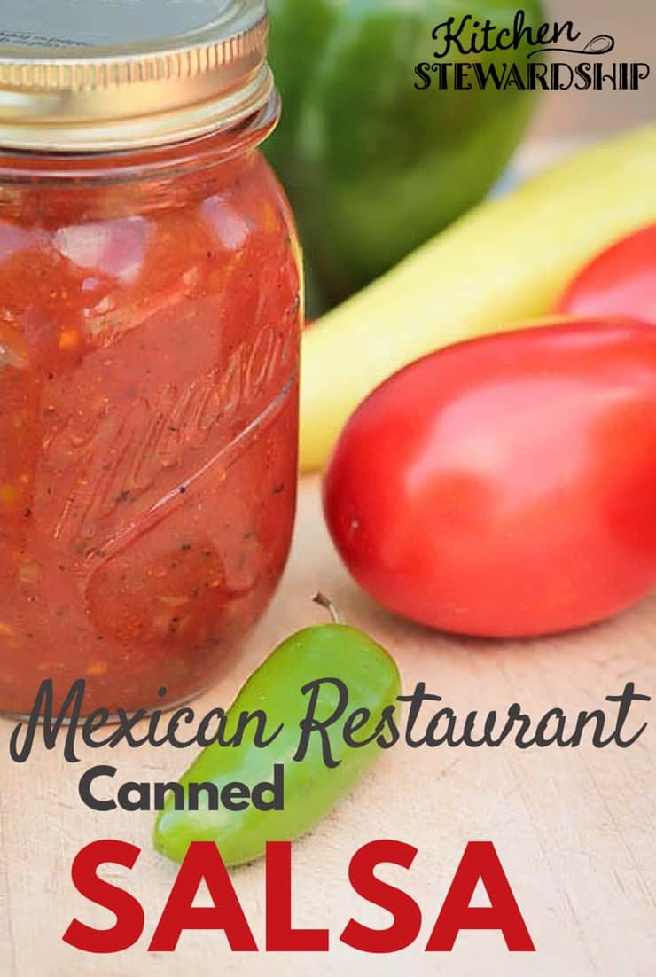 Mexican Salsa Recipe For Canning  Easy Restaurant Style Canned Salsa Recipe