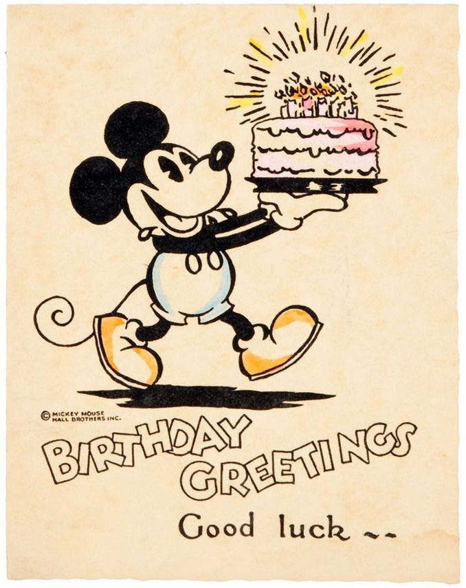 Mickey Mouse Birthday Quotes  Mickey Mouse birthday card birthday cake