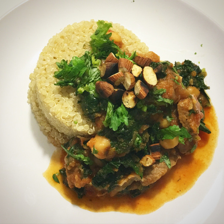 Middle East Lamb Stew  Middle Eastern Lamb Stew with Kale Dates & Toasted