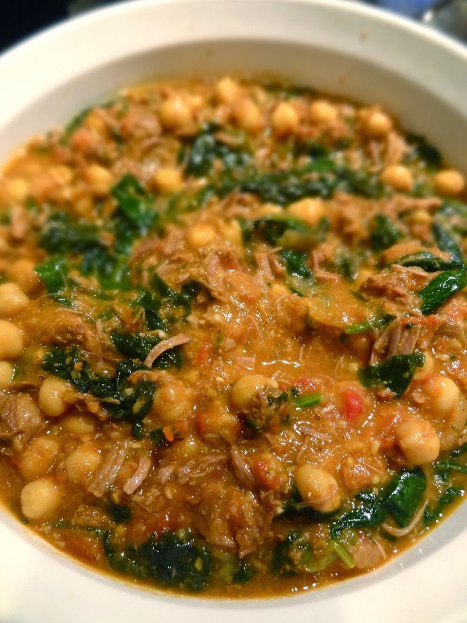 Middle East Lamb Stew  Scrumpdillyicious Middle Eastern Lamb Spinach & Chickpea