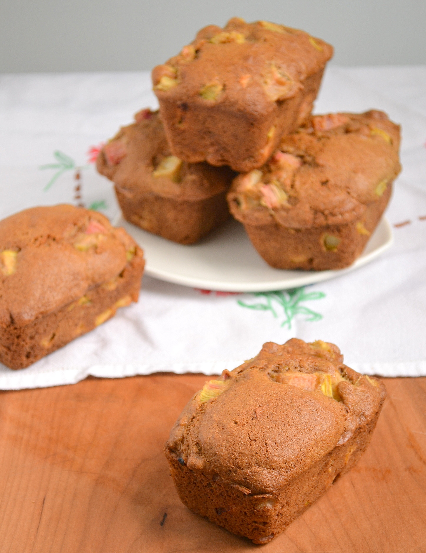Mini Quick Bread Recipes  Rhubarb Muffins or Mini Loaves