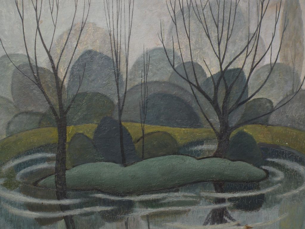 Modernist Landscape Paintings  Canadian art modernist 1953 landscape painting reminiscent