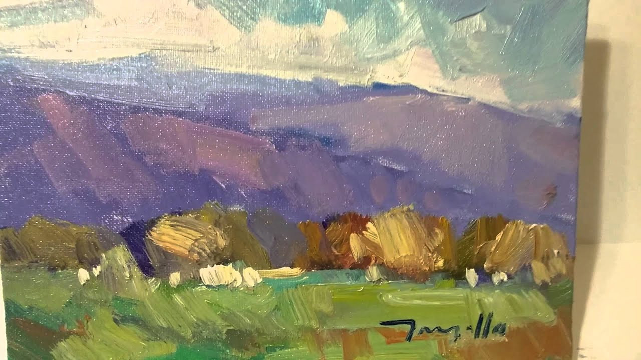 Modernist Landscape Paintings  Painter JOSE TRUJILLO Impressionist Oil Paintings Modern