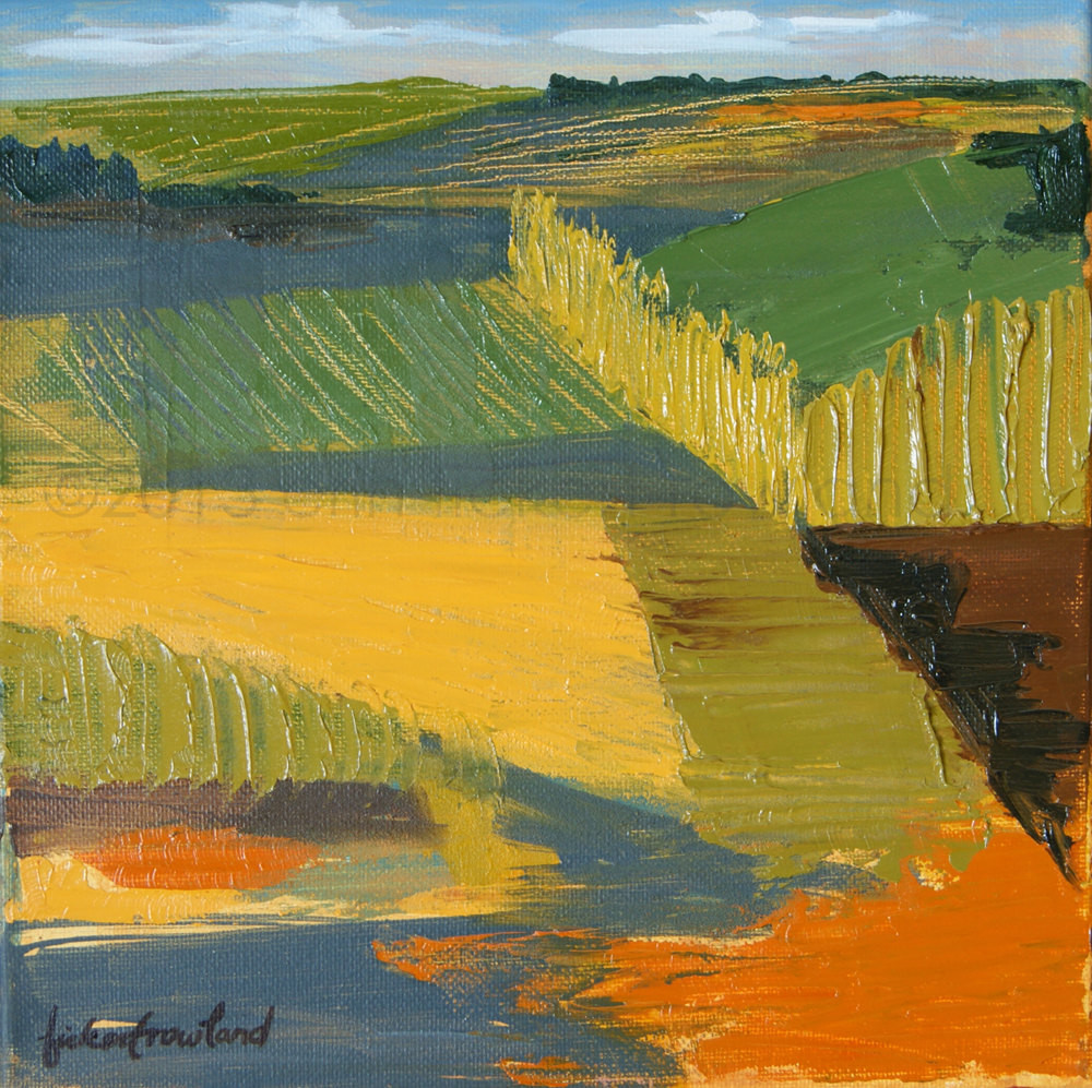 Modernist Landscape Paintings  Expressionist Landscape Painting Crop Fields Modern Abstract