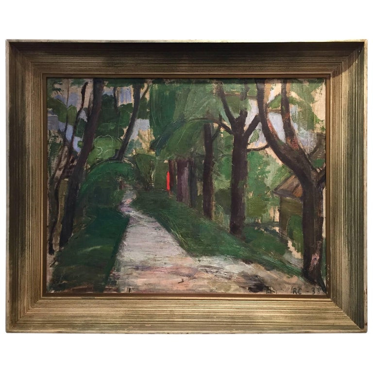 Modernist Landscape Paintings  1930s Modernist Landscape Painting at 1stdibs