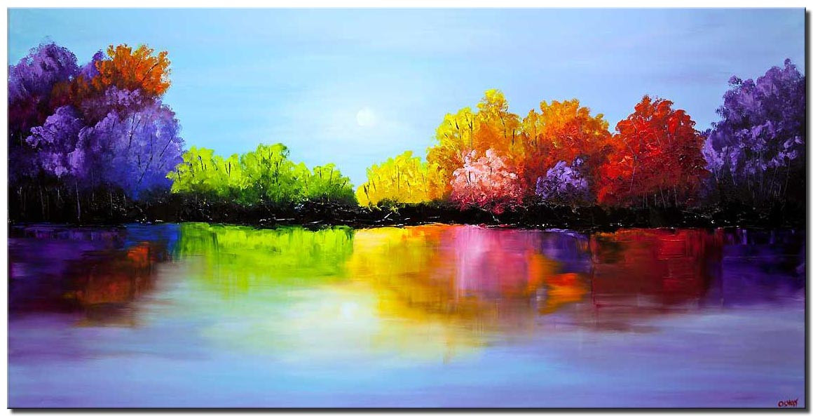 Modernist Landscape Paintings  Painting for sale heaven painting colorful landscape