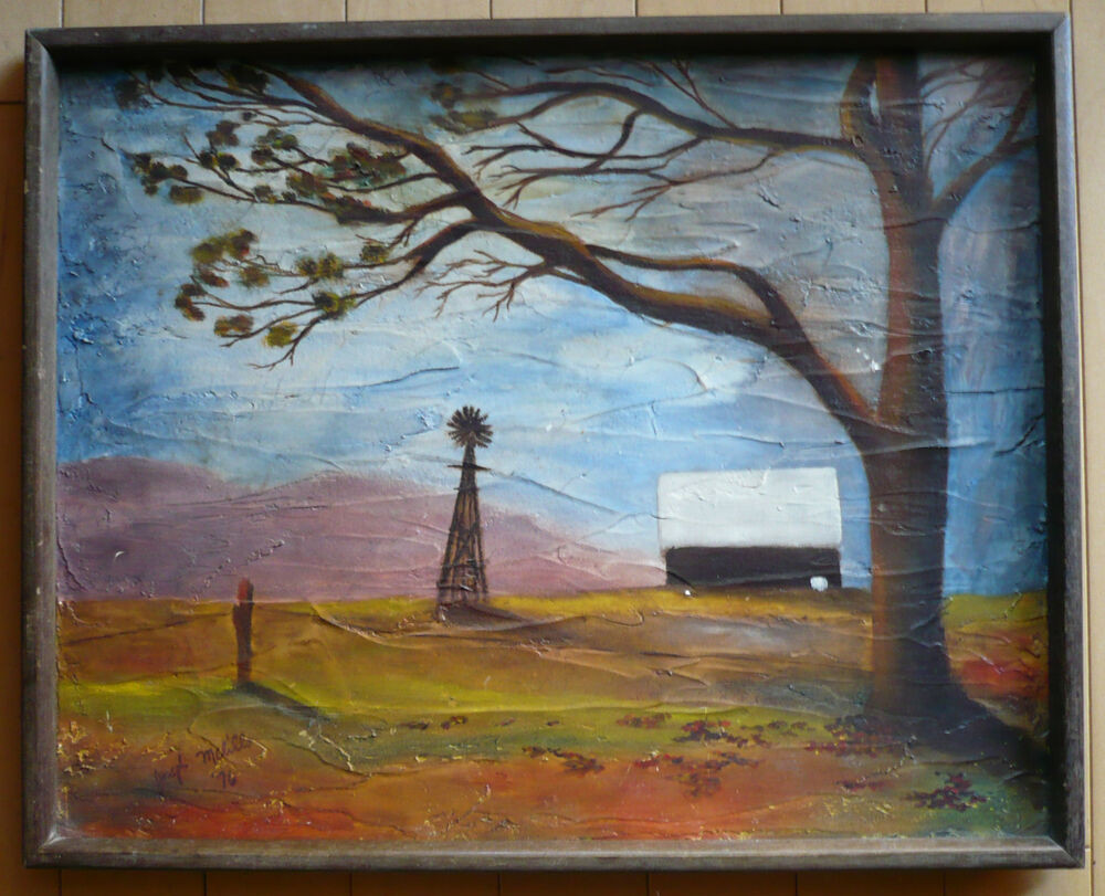 Modernist Landscape Paintings  superb colorist folk modern modernist landscape mid