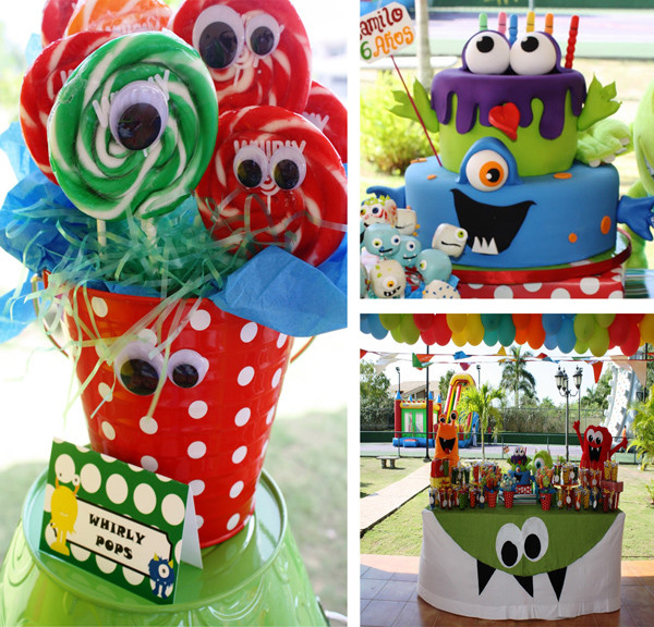 Monster Birthday Party Decorations  Kara s Party Ideas Monster Birthday Party Supplies Ideas