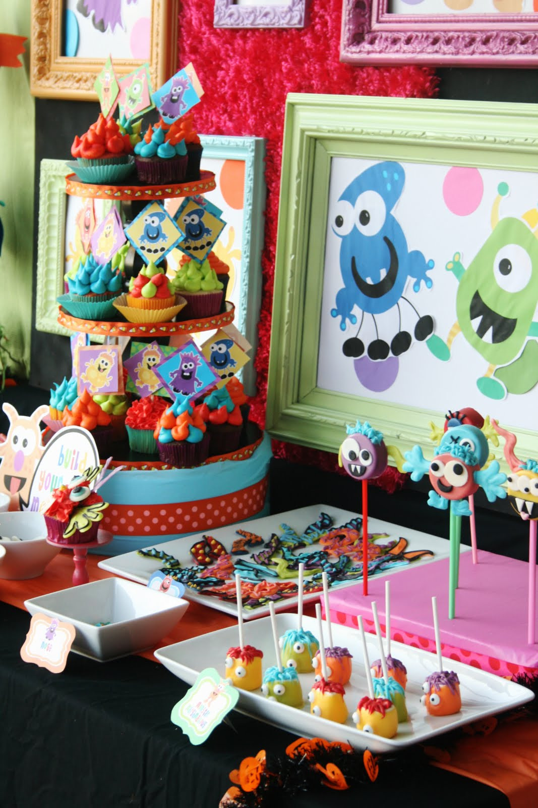 Monster Birthday Party Decorations  Kara s Party Ideas Colorful Monster Bash Party
