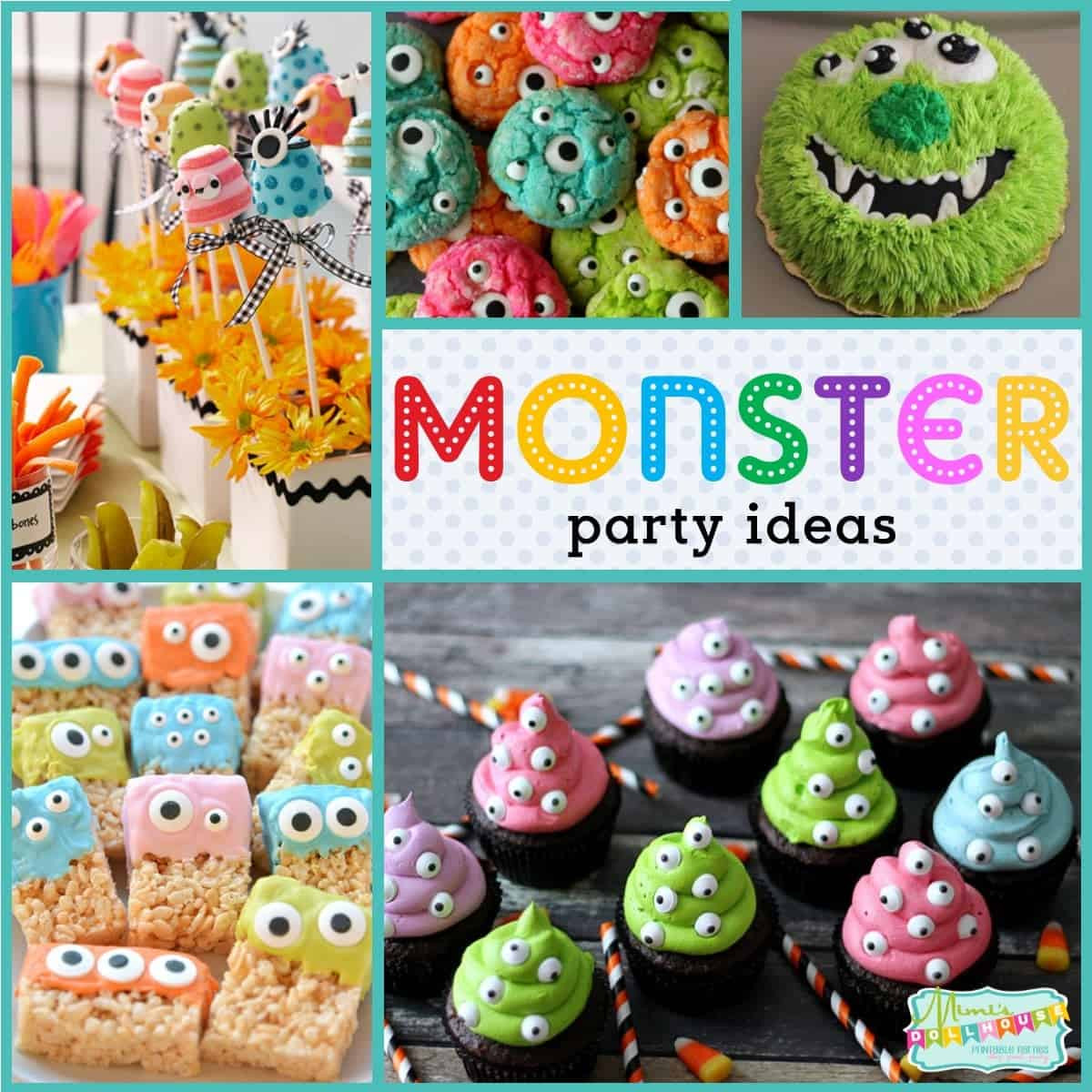 Monster Birthday Party Decorations  Monster Party Monster Birthday Party Ideas and Desserts