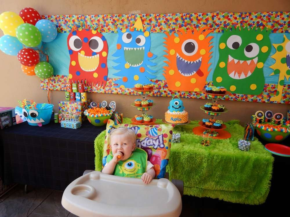 Monster Birthday Party Decorations  Monsters Birthday Party Ideas With images