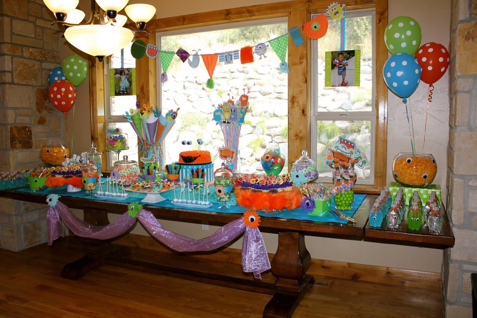 Monster Birthday Party Decorations  Bridgey Widgey Monster Birthday Party
