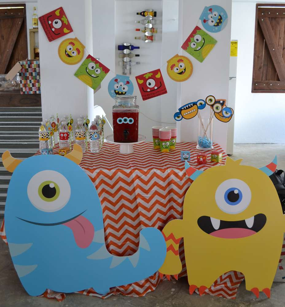 Monster Birthday Party Decorations  Monsters Birthday Party Ideas 1 of 32