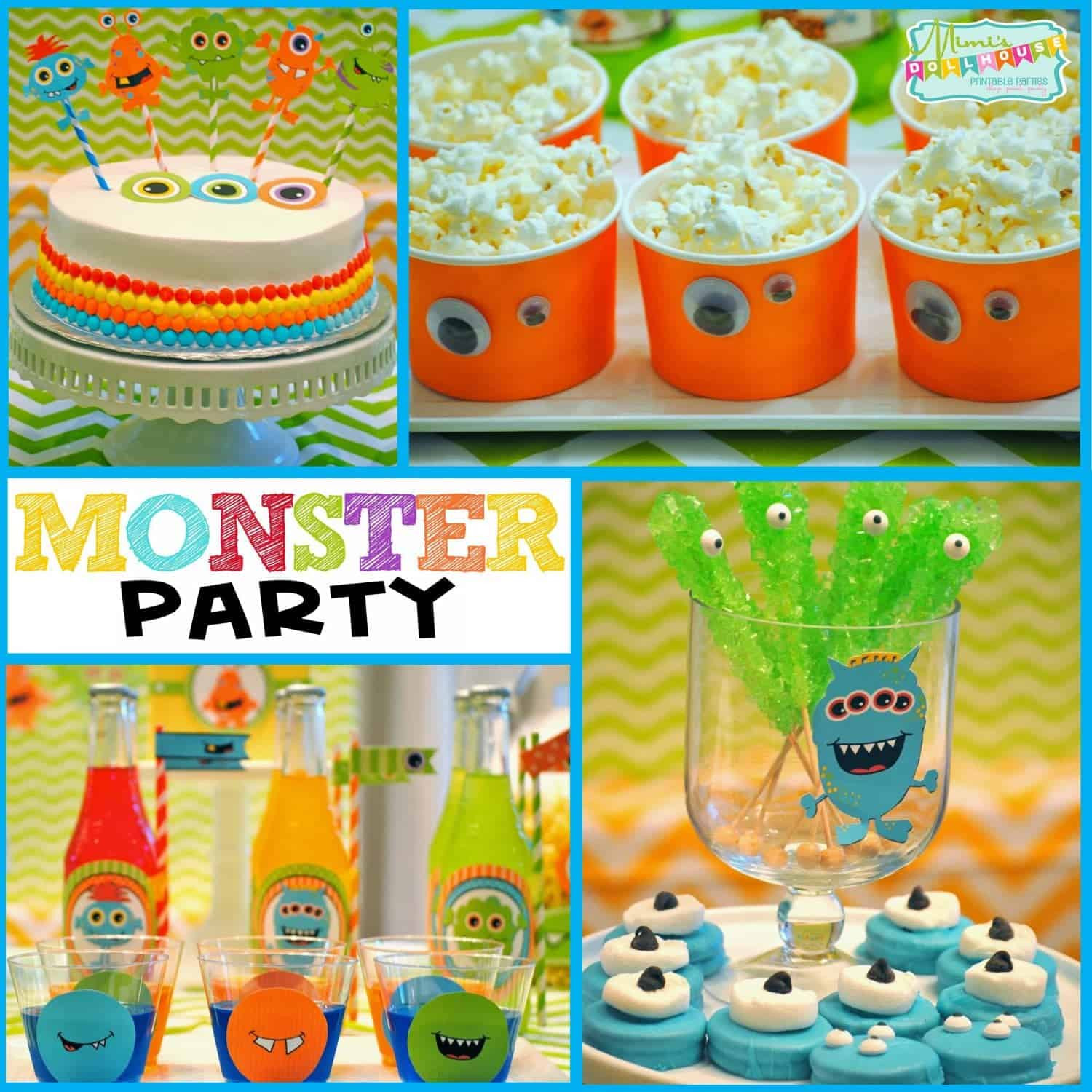 Monster Birthday Party Decorations  Monster Party It s a Monster Birthday Bash