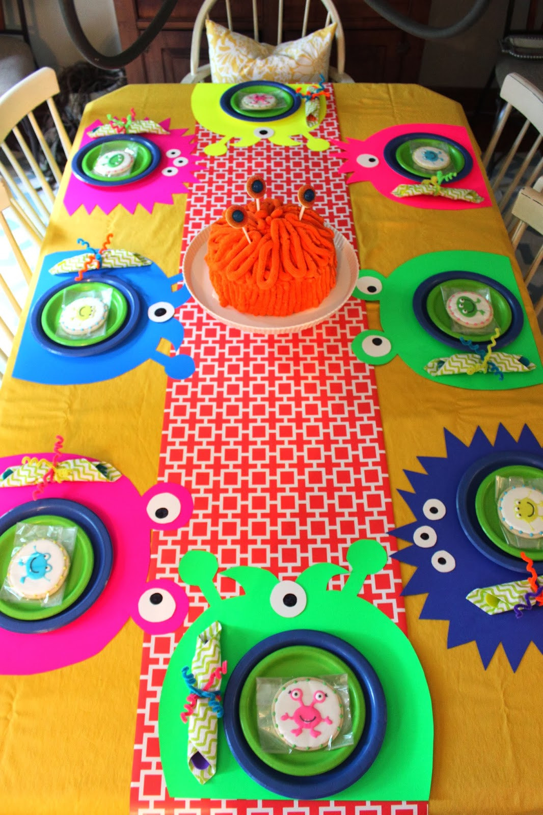 Monster Birthday Party Decorations  CREATE STUDIO A Neon Silly Monster Birthday Party