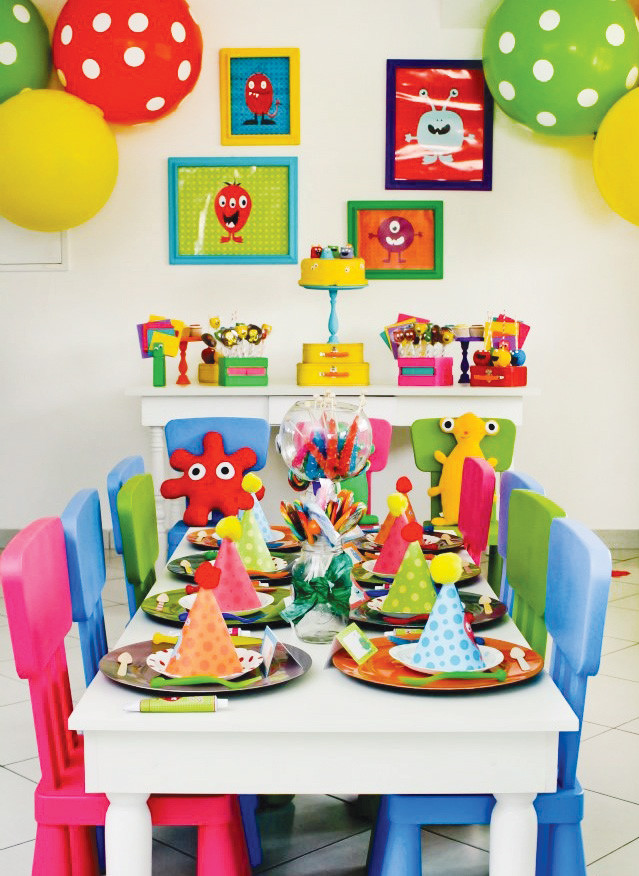 Monster Birthday Party Decorations  Colorful & Modern Little Monster Birthday Party Hostess
