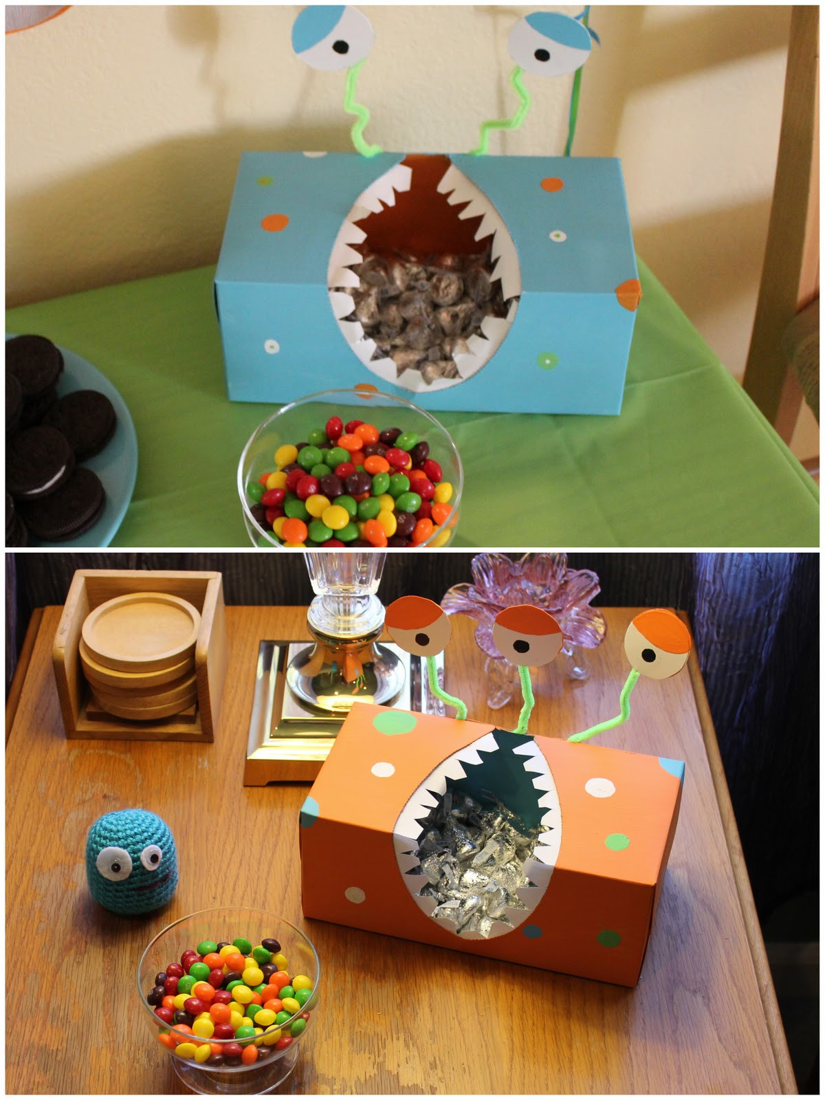 Monster Birthday Party Decorations  Then You Be e A Mom DIY Monster Birthday Party