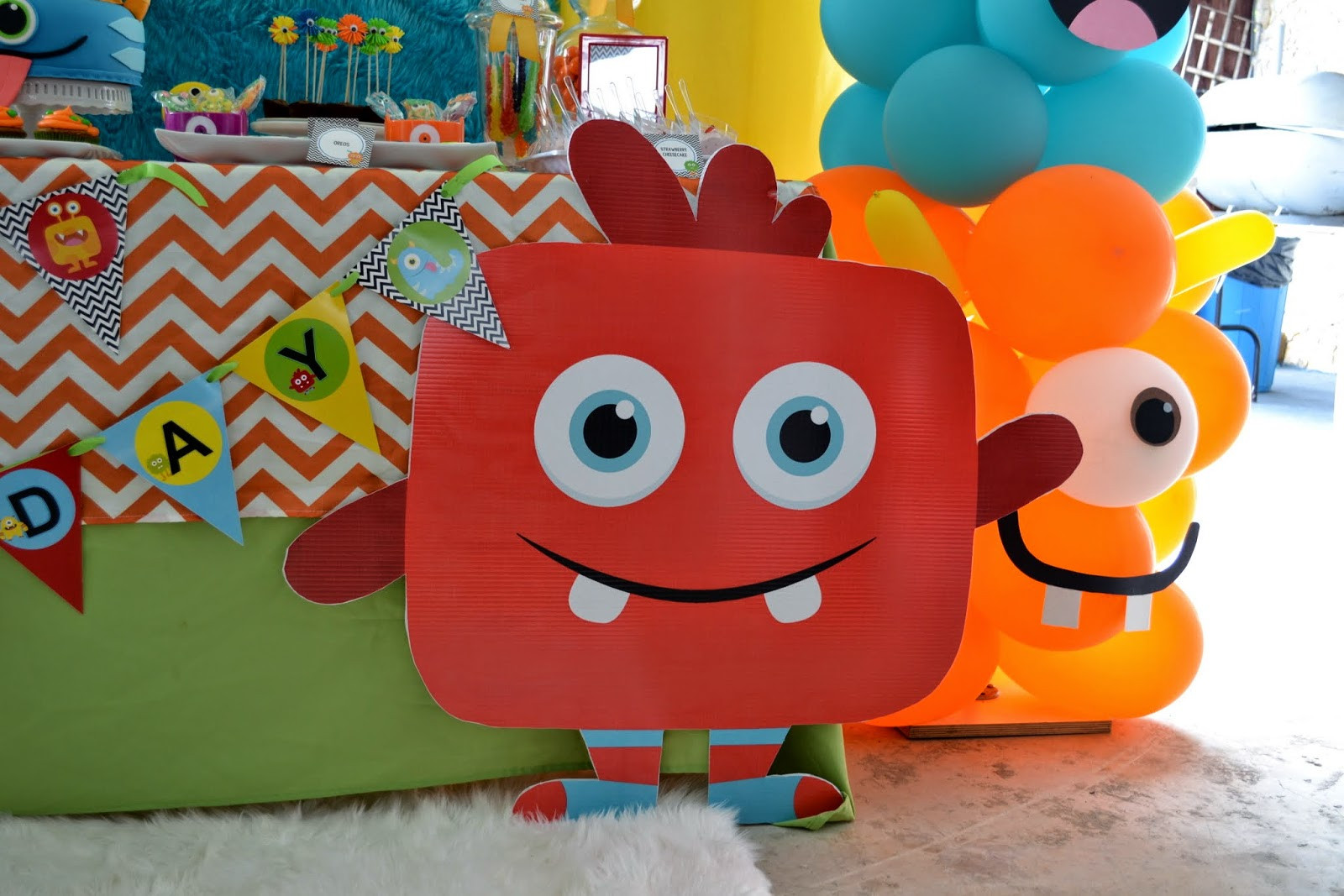 Monster Birthday Party Decorations  Partylicious Events PR Little Monster Birthday Bash