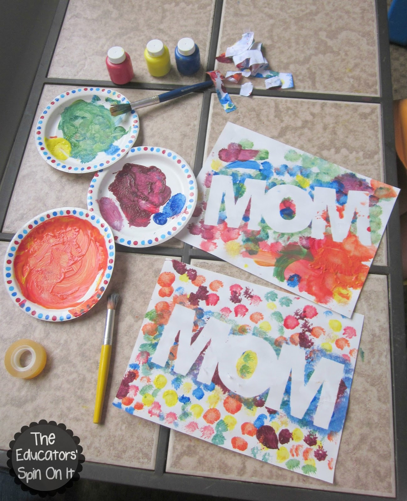 Mother Day Craft Ideas For Preschoolers  The Educators Spin It Easy Mother s Day Craft