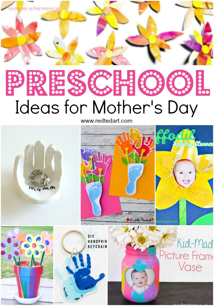 Mother Day Craft Ideas For Preschoolers  Mother s Day Crafts for Preschoolers Red Ted Art Make