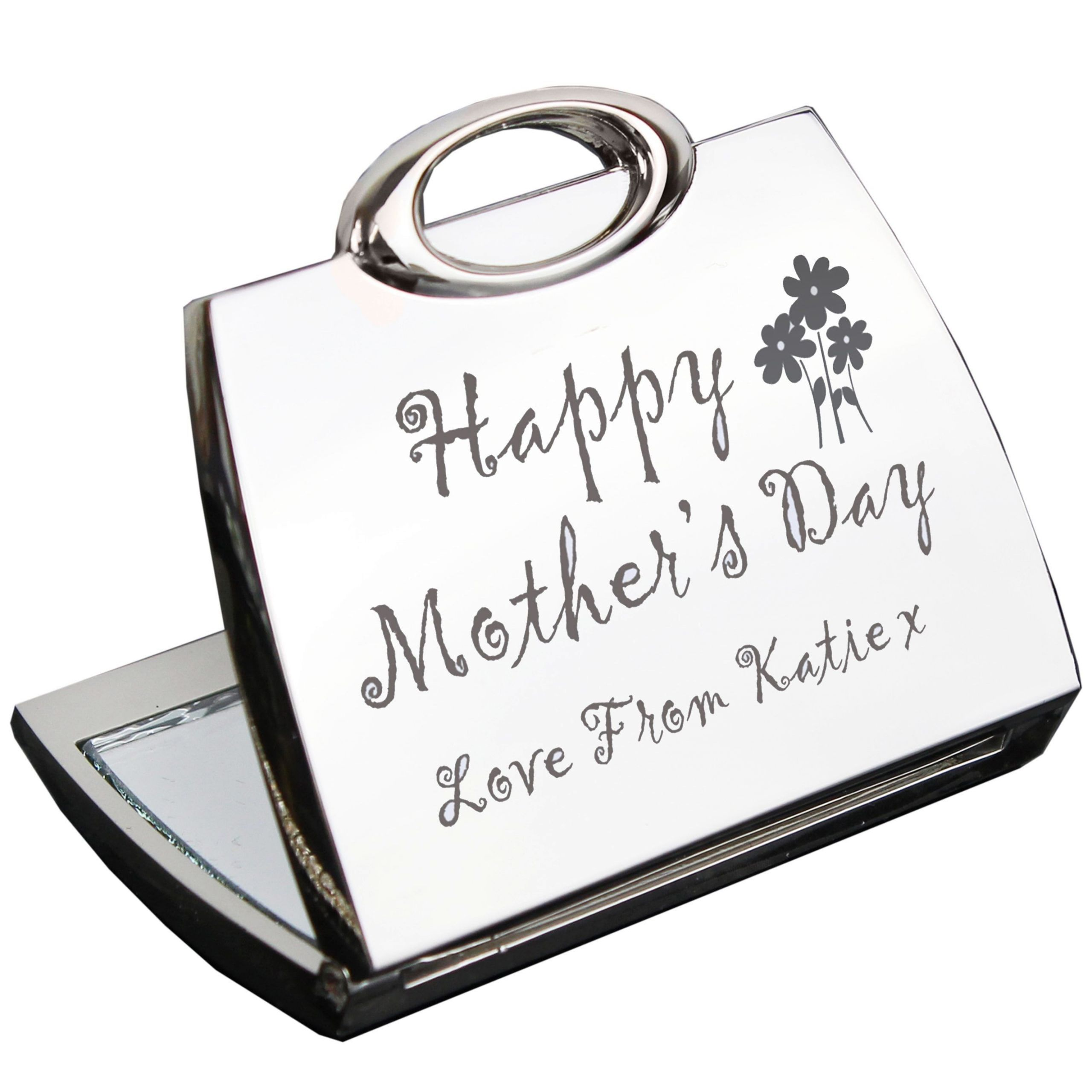 Mother's Day Gifts  Personalised Happy Mothers Day pact Mirror