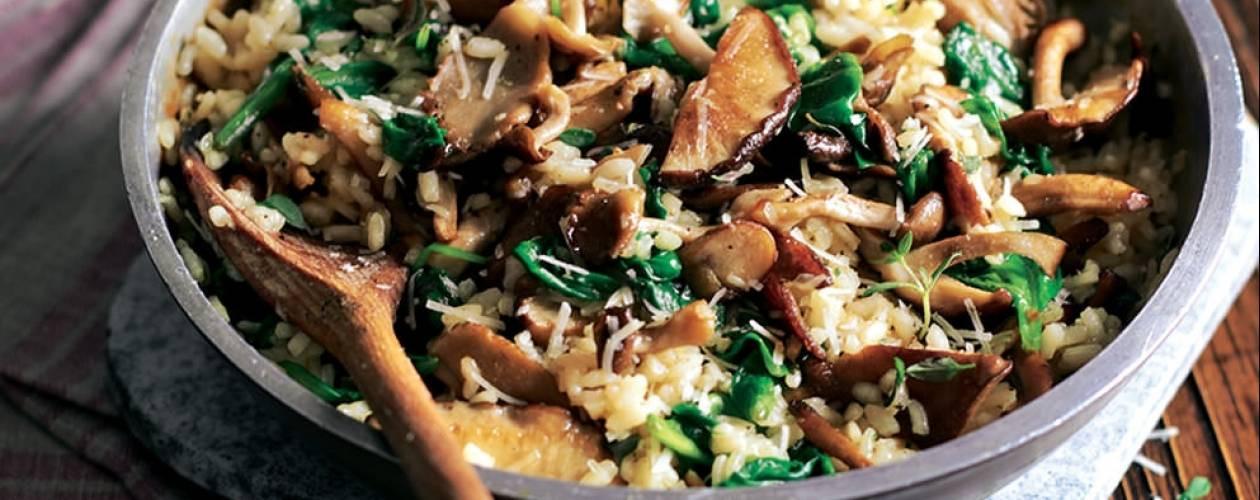 Mushroom Spinach Risotto  Mushroom & spinach risotto Asda Good Living