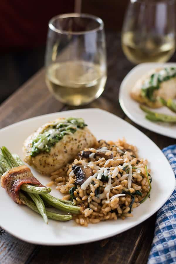 Mushroom Spinach Risotto  Mushroom Spinach Risotto • The Crumby Kitchen