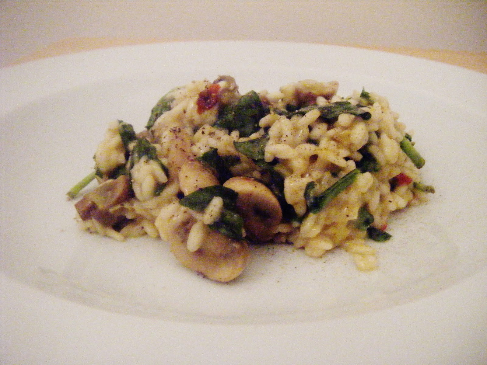 Mushroom Spinach Risotto  the Best Recipes Mushroom Leek and Spinach Risotto