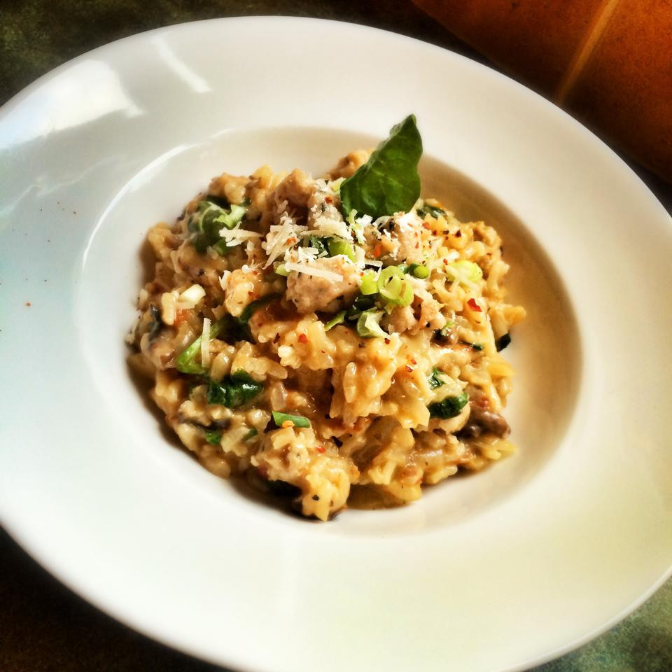 Mushroom Spinach Risotto  Chicken Mushroom and Spinach Risotto – 12sp – Skinny