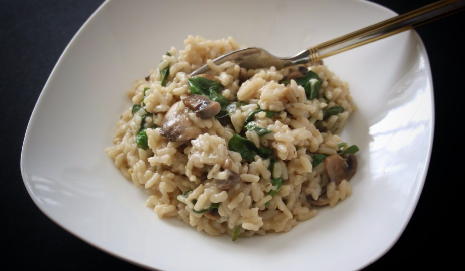 Mushroom Spinach Risotto  How To Make Delicious Mushroom Spinach Risotto In The