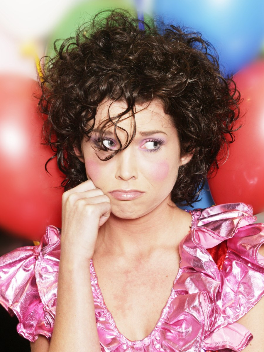 Naturally Curly Hair Hairstyles  Clown hairstyle