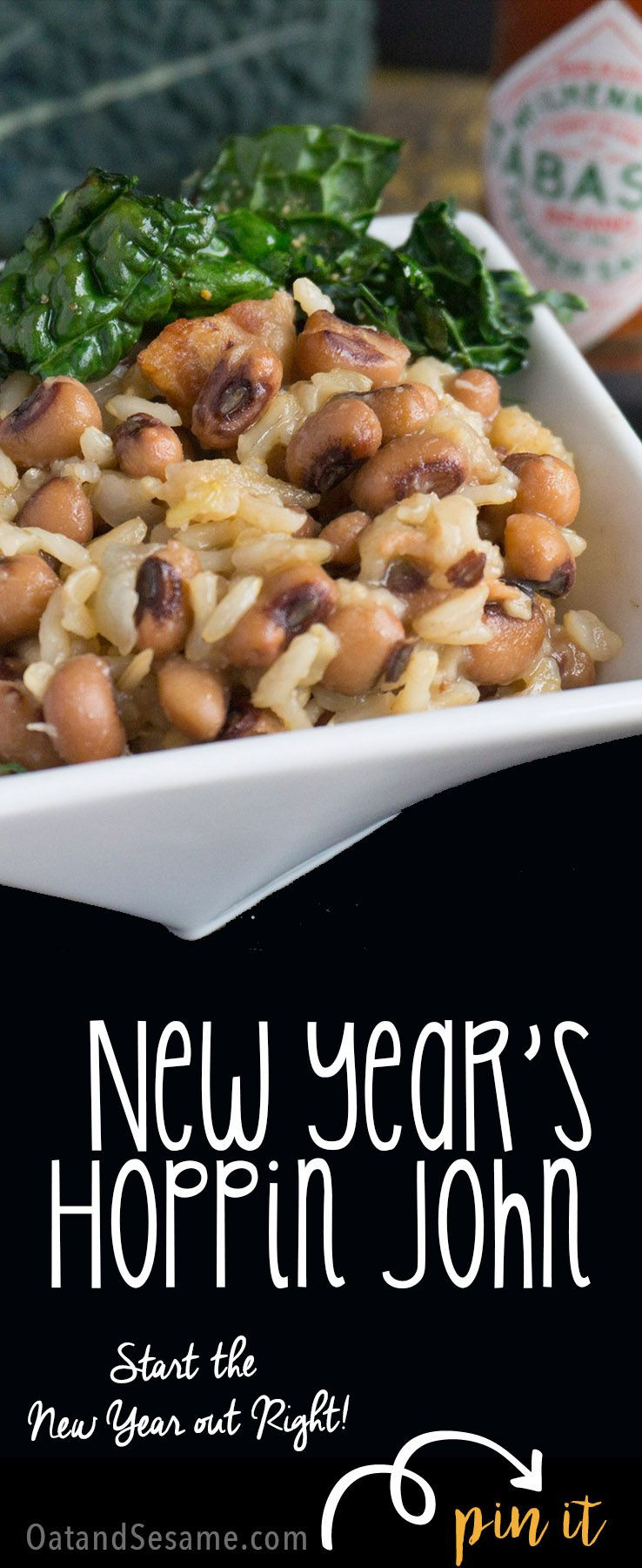 New Year Day Dinner Traditions  Skillet Hoppin John Southern Black Eyed Peas and Rice