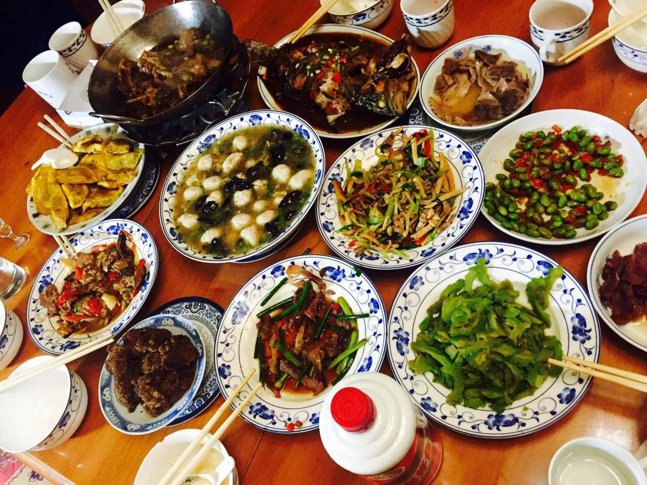 New Year Day Dinner Traditions  Chinese New Year is about family friends and food