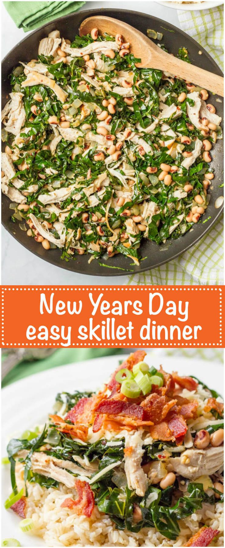 New Year Day Dinner Traditions  Southern New Year s Day dinner skillet