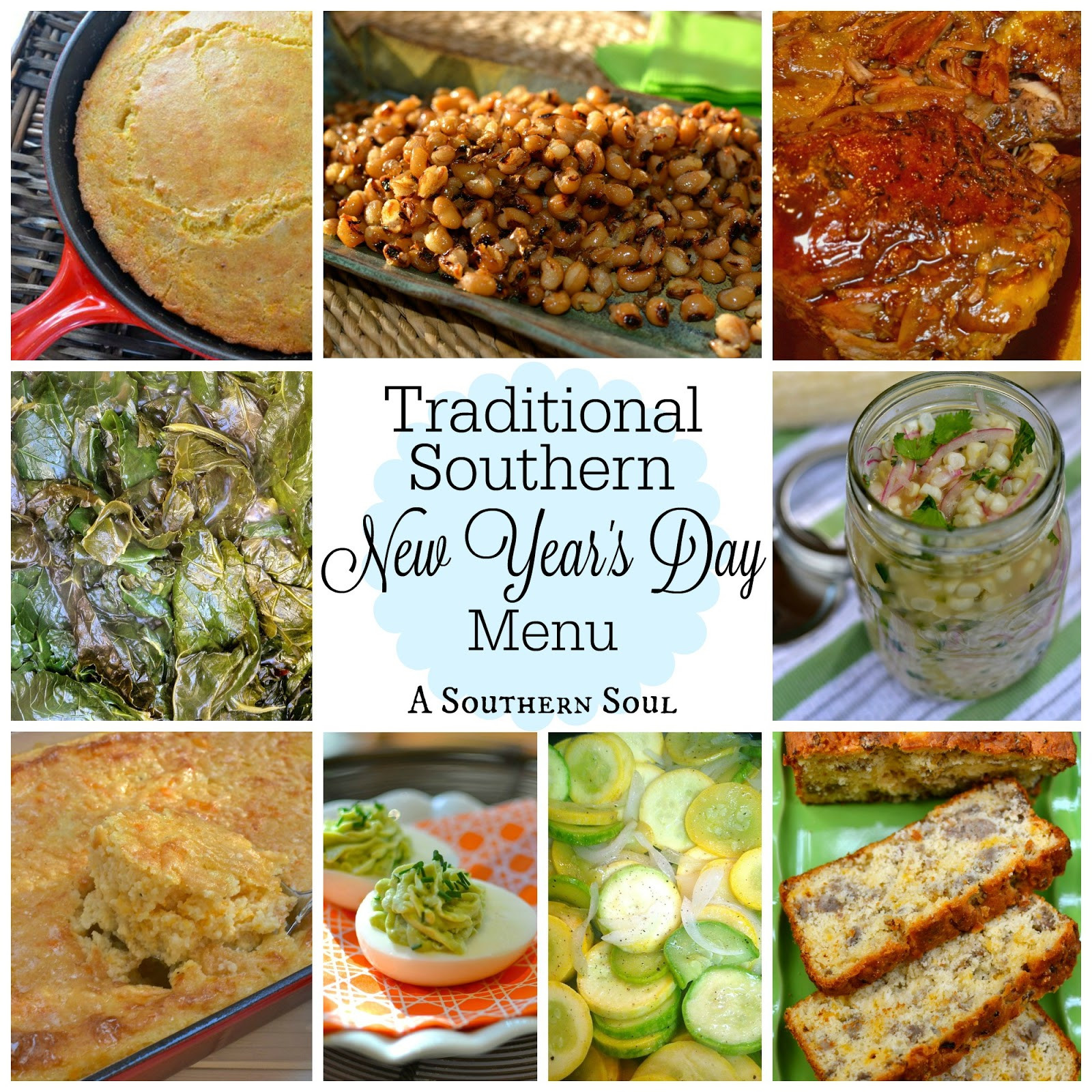 New Year Day Dinner Traditions  Traditional Southern New Year's Day Menu