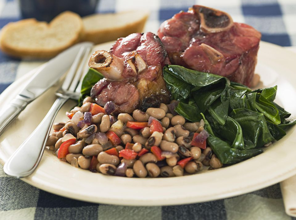 New Year Day Dinner Traditions  New Year s Food Tradition Black Eyed Peas and Greens