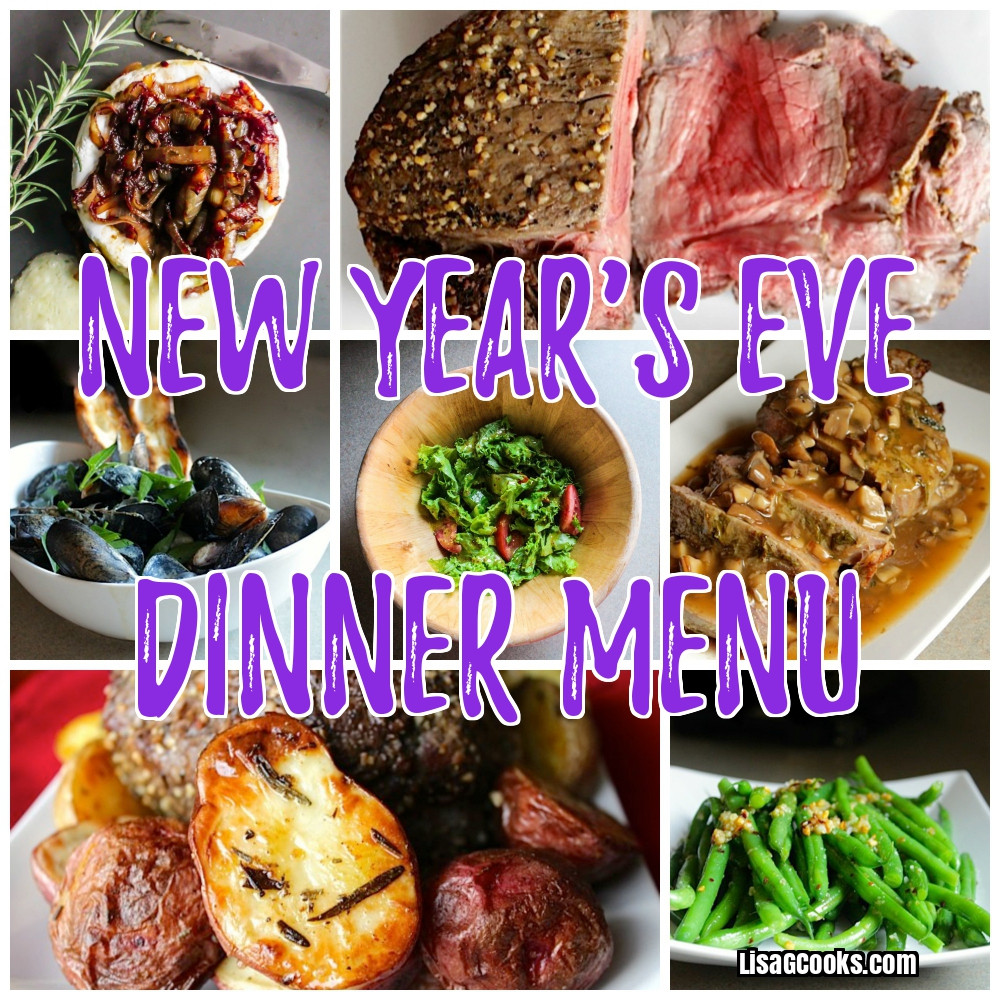New Years Eve Dinners  New Year s Eve Dinner Menu 2018 Lisa G Cooks