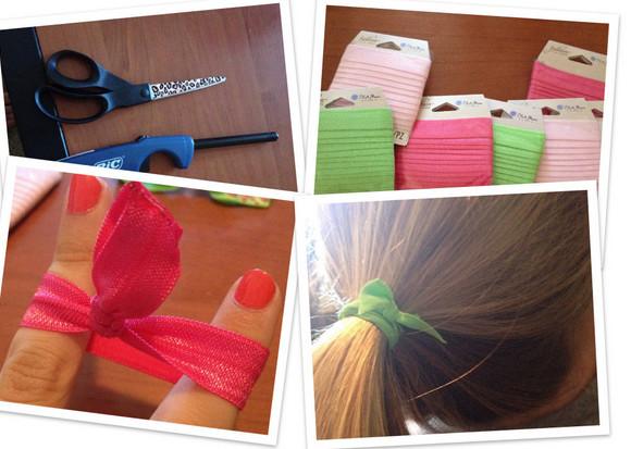No Crease Hair Ties DIY  DIY no crease elastic hair ties just bought a few yards