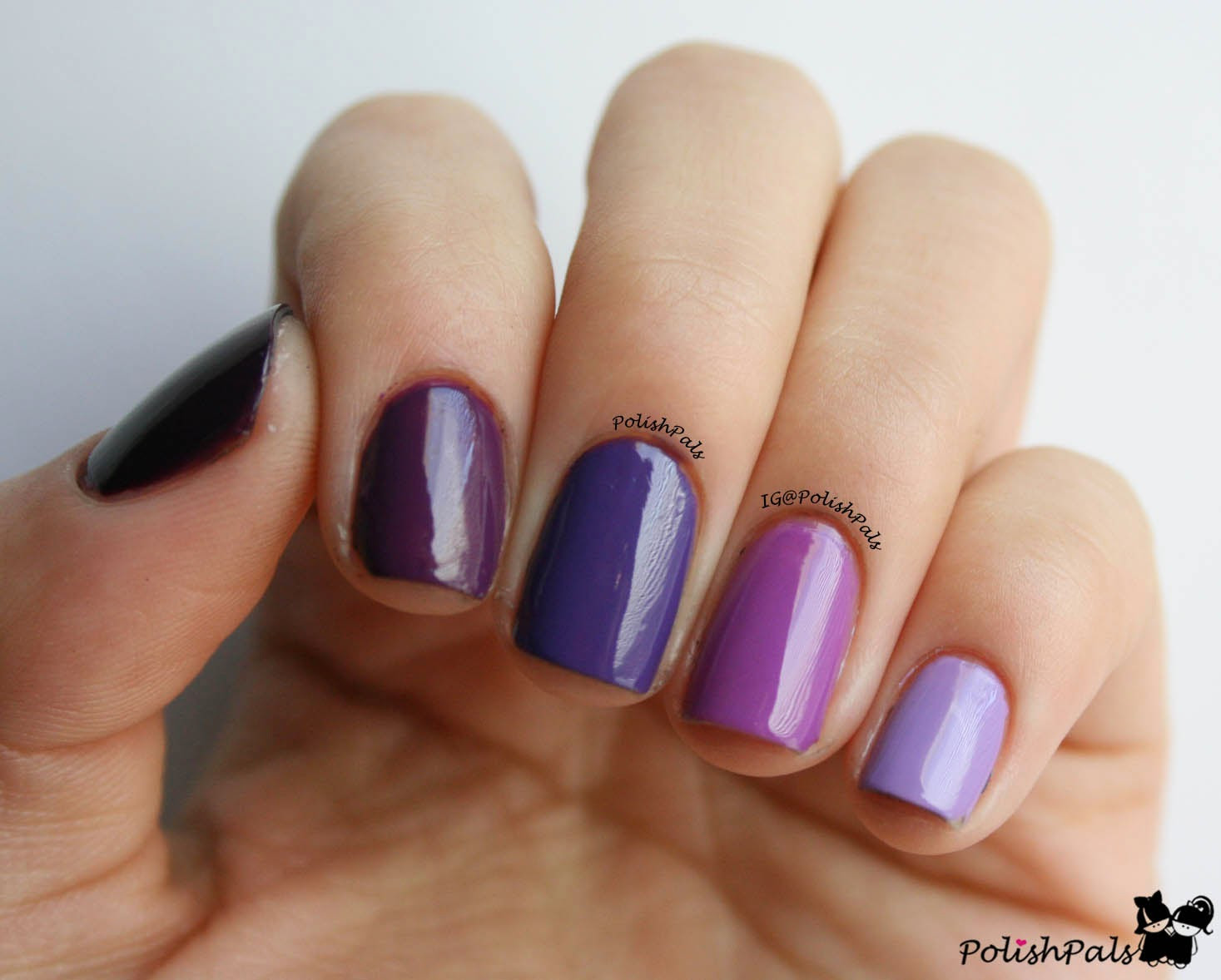 Ombre Nail Colors  Polish Pals Purple Ombre Nails