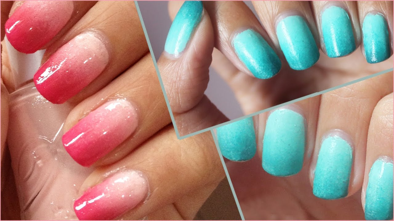 Ombre Nail Colors  Back2Basic Ombre Nails How to