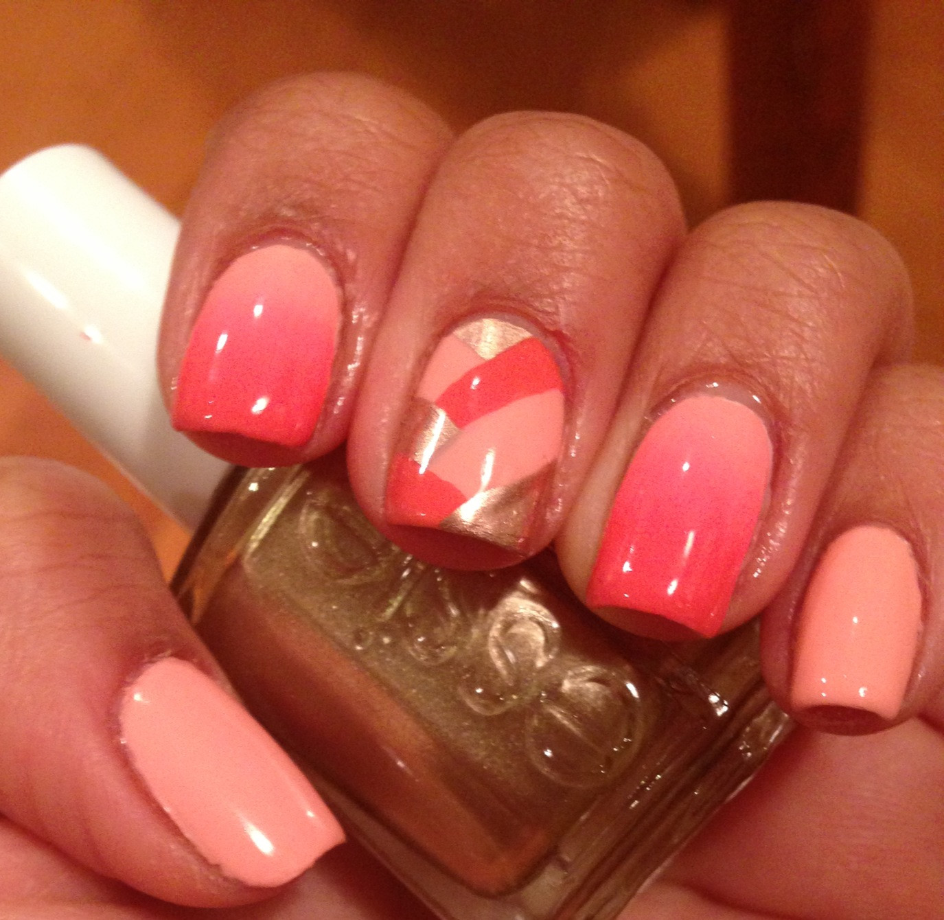 Ombre Nail Colors  Mix and Match Ombre and Braided NOTD