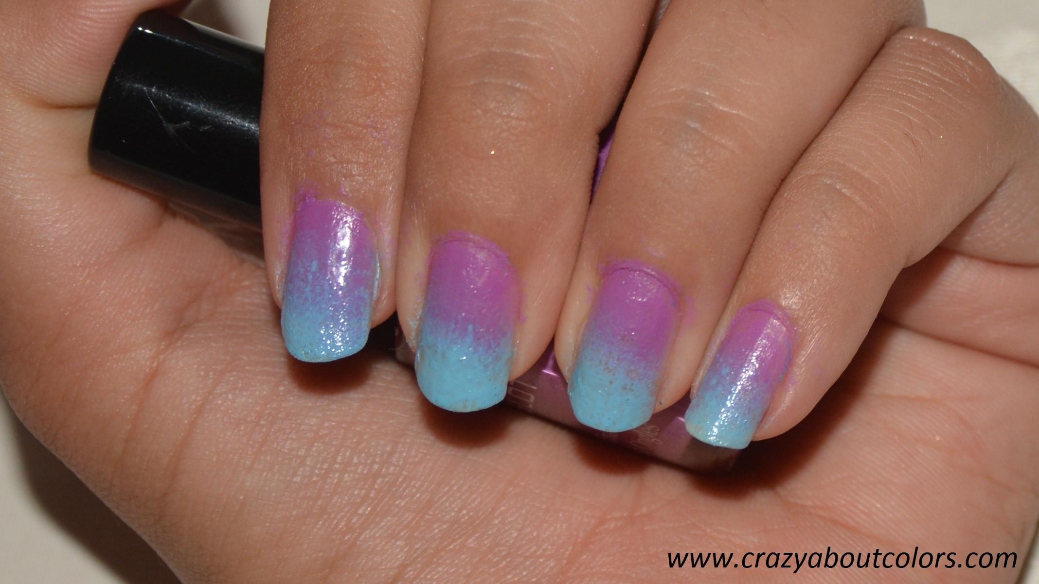 Ombre Nail Colors  Ombre Nails Crazy about Colors