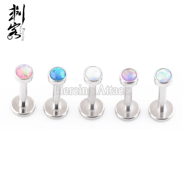 Opal Body Jewelry  Aliexpress Buy 316L Surgical Steel Opal Labret Opal