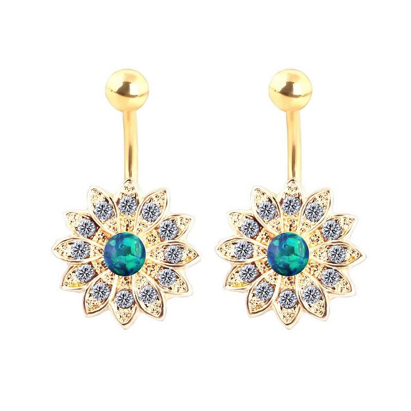 Opal Body Jewelry  Opal Stone Navel Barbell Piercing Jewelry Women Belly