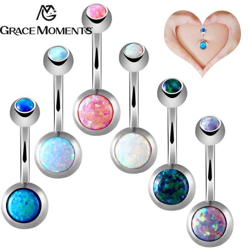Opal Body Jewelry  GRACE MOMENTS Hot Sale Opal Crystal Body Jewelry Belly